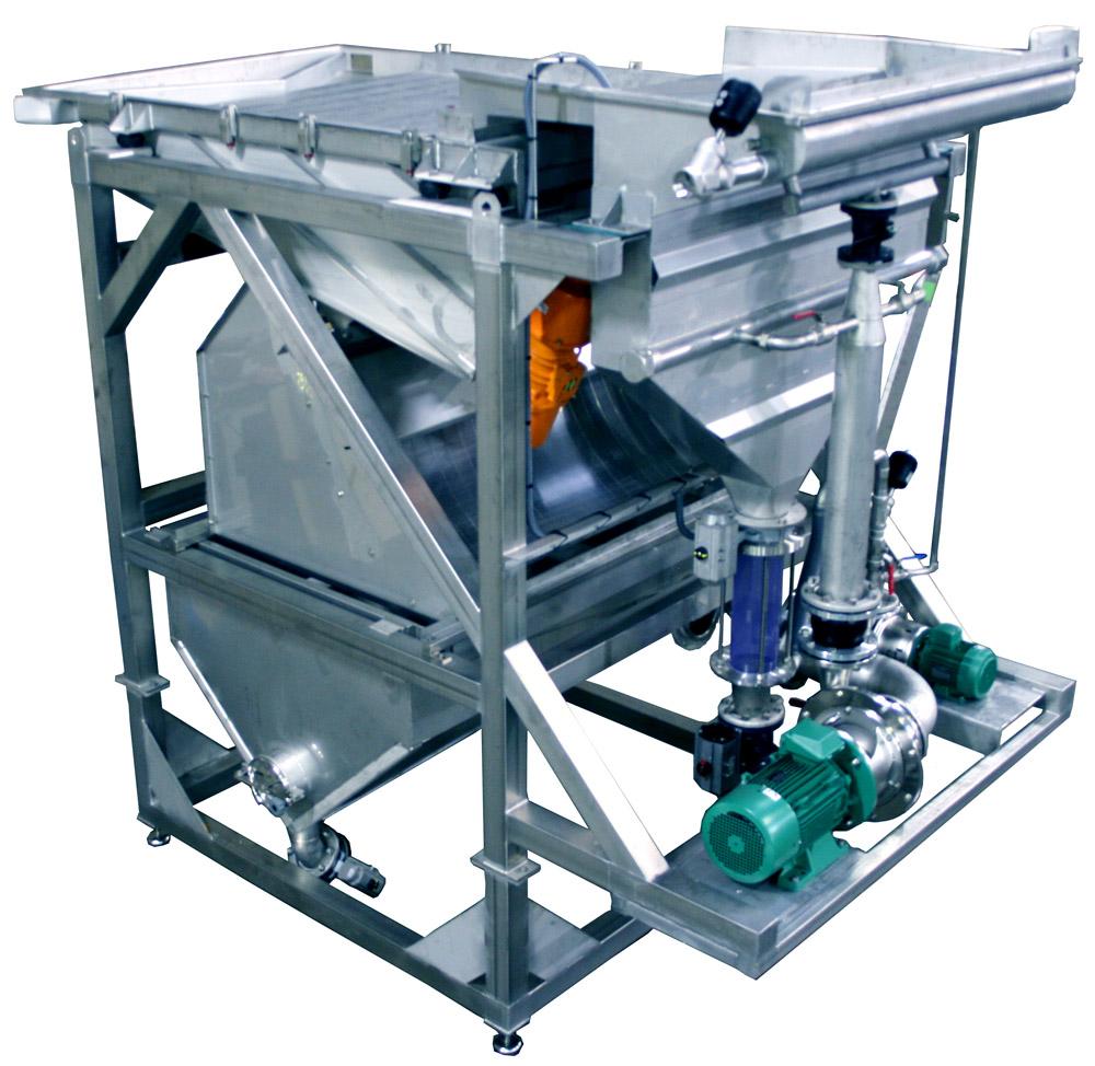 Despedrador hidráulico para productos granulosos