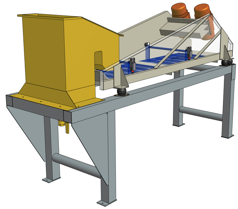 Vibrating conveyor and distributor